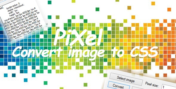 PiXel - Convert image to CSS - CodeCanyon Item for Sale