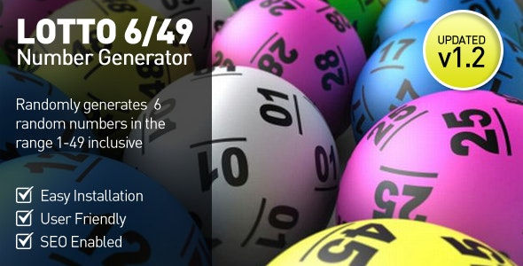Lottery Number Generator - 6/49 - CodeCanyon Item for Sale