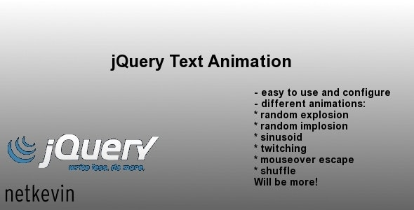 jQuery Text Animation - CodeCanyon Item for Sale