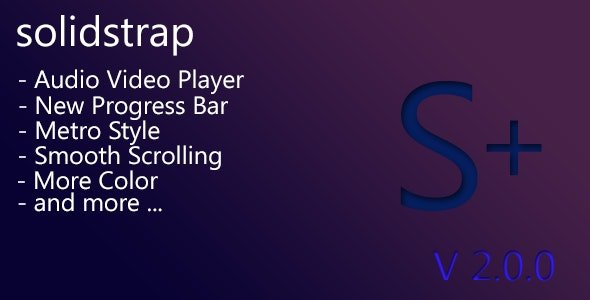 Solidstrap - Metro Style Bootstrap Skin V.2 - CodeCanyon Item for Sale