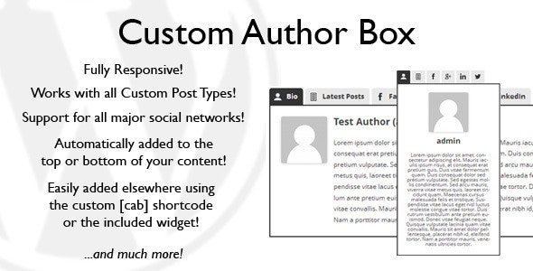 Custom Author Box - CodeCanyon Item for Sale