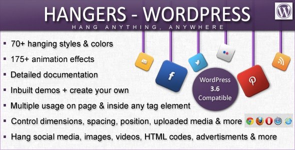 Hangers - WordPress [Hang Anything, Anywhere] - CodeCanyon Item for Sale