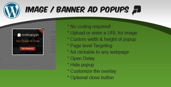 Image / Banner Ad Popup Plugin for WordPress - CodeCanyon Item for Sale