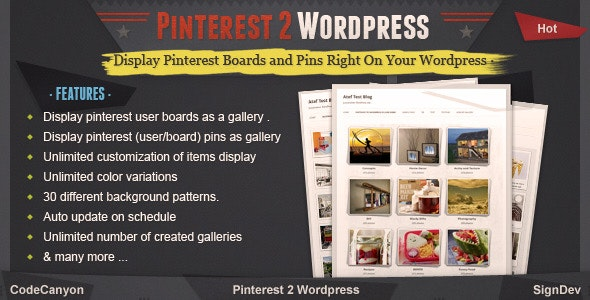 Pinterest To Wordpress Wordpress Pinterest Gallery Plugin By Valvepress