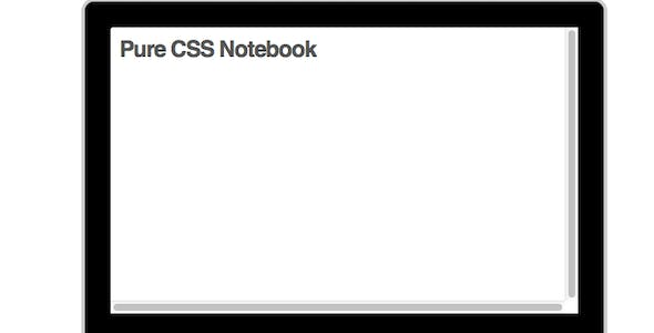 Notebook - CSS Only