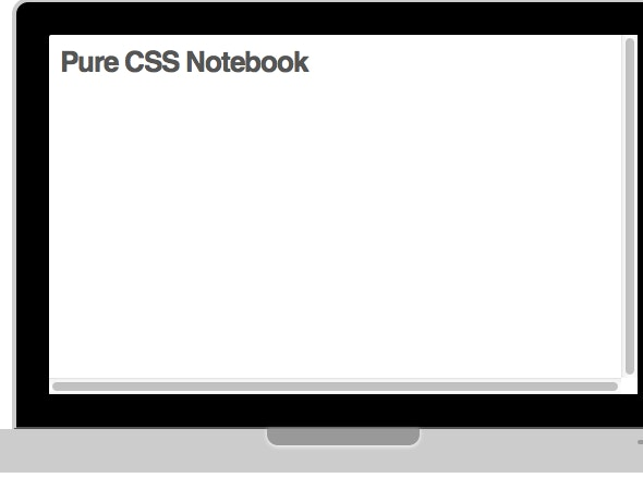 Notebook - CSS Only - CodeCanyon Item for Sale
