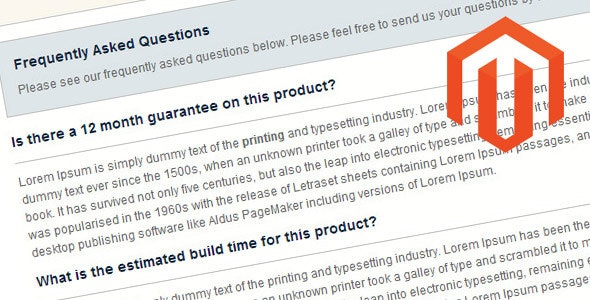 Product FAQ Magento Extension - CodeCanyon Item for Sale