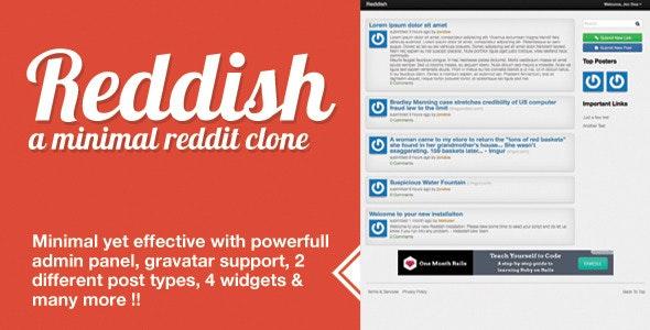 Reddish A Minimal Reddit Clone by meSingh | CodeCanyon