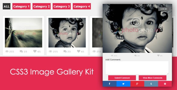 CSS3 Image Gallery Kit - CodeCanyon Item for Sale