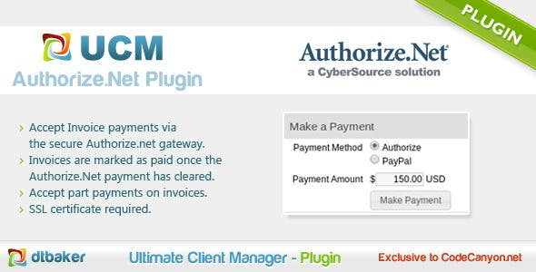 Authorize.Net Payments