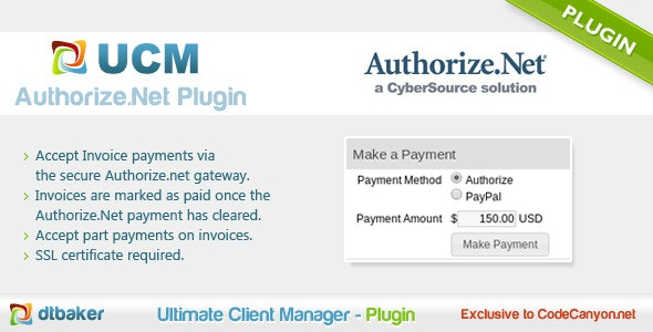 Authorize.Net Payments - CodeCanyon Item for Sale