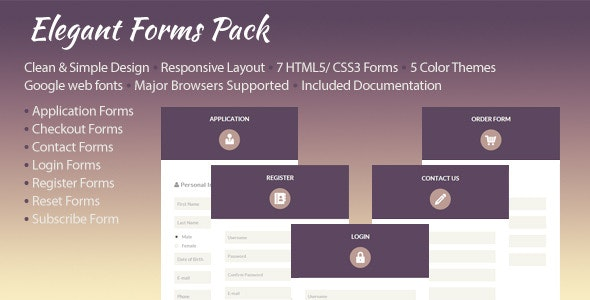 Elegant Forms Pack - CodeCanyon Item for Sale
