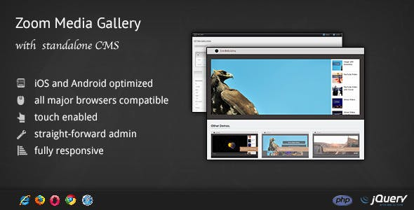 Zoom Media Gallery - with CMS / Admin Panel