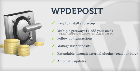 WPdeposit - CodeCanyon Item for Sale