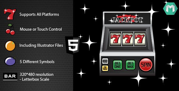 HTML5 Slot Machine: Jackpot 777 - HTML5 Game (Construct 2 & Construct 3)