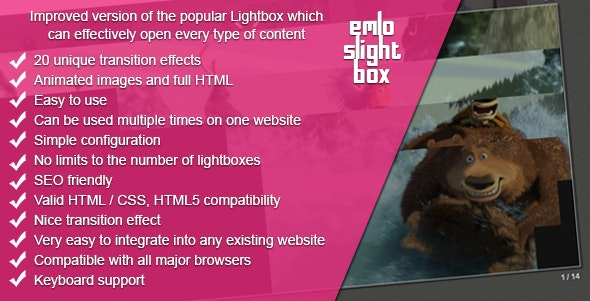 Lightbox With Transition Effects For HTML / Images - CodeCanyon Item for Sale