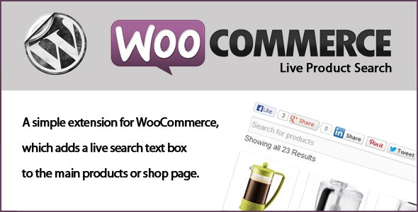 Woocommerce Live Product Search - CodeCanyon Item for Sale