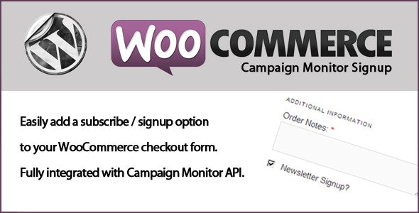 WooCommerce Campaign Monitor Signup - CodeCanyon Item for Sale