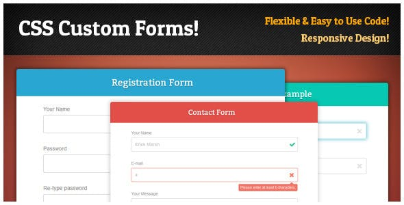 Responsive CSS Forms Set & Validation