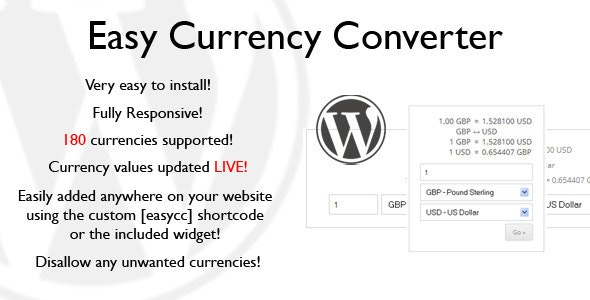 Easy Currency Converter - CodeCanyon Item for Sale