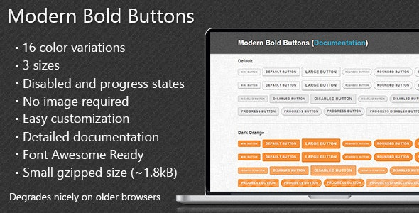 Modern Bold Buttons - CodeCanyon Item for Sale