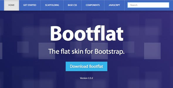Bootflat - Responsive Bootstrap Skin