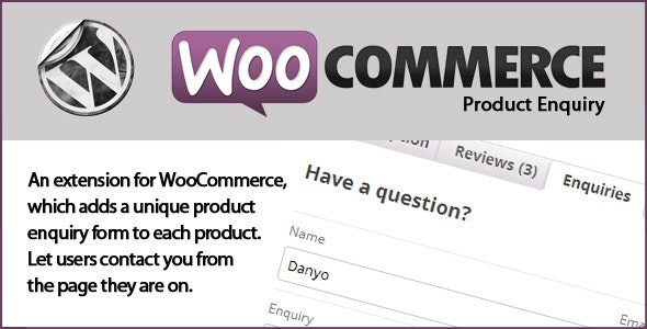 WooCommerce Product Enquiry - CodeCanyon Item for Sale