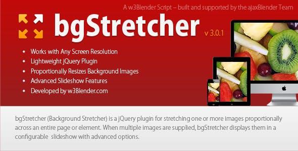 bgStretcher jQuery Background Resizer & Slideshow