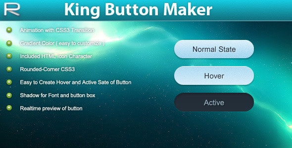 King Button Maker CSS3 - CodeCanyon Item for Sale