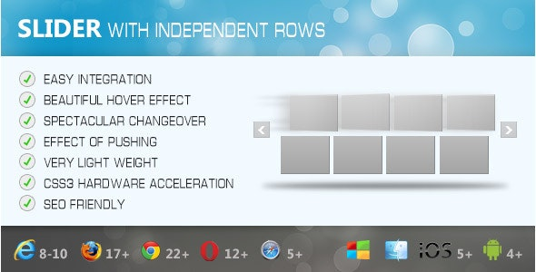 Slider with independent rows - CodeCanyon Item for Sale