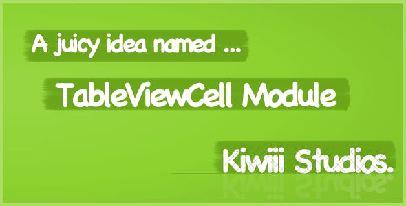 Titanium TableViewCell Module