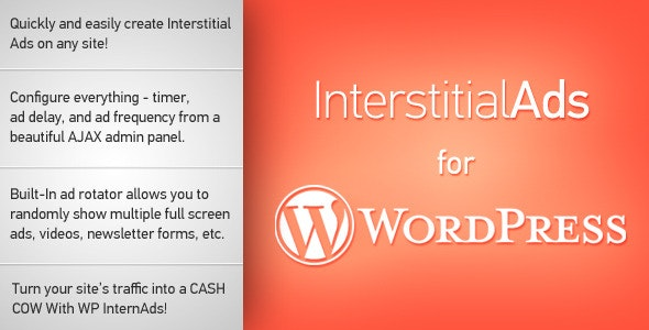 Interstitial Ads for WordPress - CodeCanyon Item for Sale