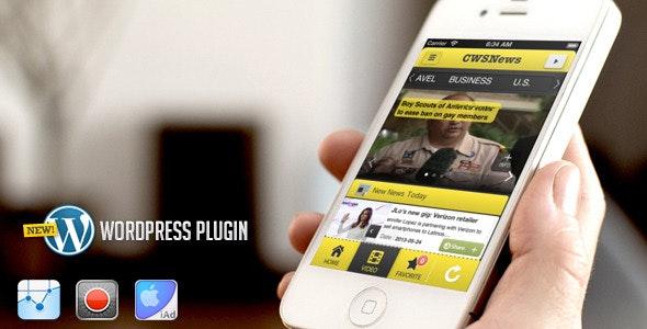 CWSNews - iPhone news app - Wordpress - CodeCanyon Item for Sale