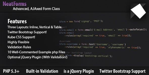 Form Class - AJAX, Validation, jQuery & Bootstrap