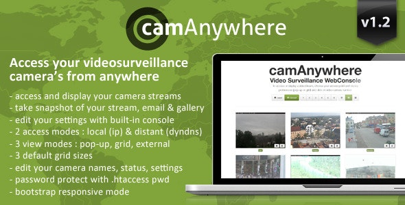 camAnywhere Video Camera Surveillance WebConsole - CodeCanyon Item for Sale