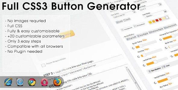 CSS3 Buttons Generator