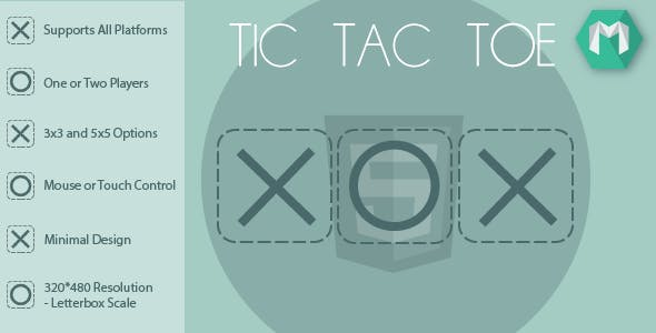 HTML5 Tic Tac Toe - HTML5 Game (Construct 2 & Construct 3)