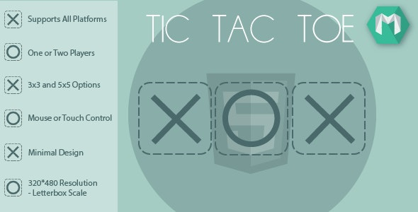HTML5 Tic Tac Toe - HTML5 Game (Construct 2 & Construct 3) - CodeCanyon Item for Sale