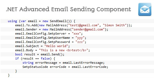 .NET Advanced Email Sending Component - CodeCanyon Item for Sale