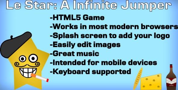 HTML5 Infinite Jumper: Le Star