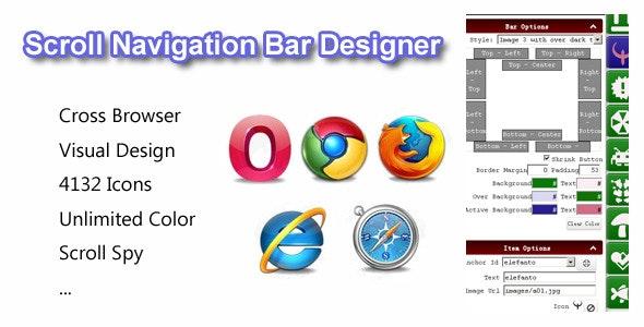 Scroll Navigation Bar Designer - CodeCanyon Item for Sale