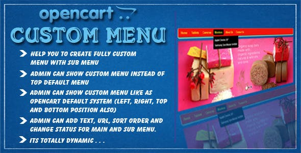opencart custom menu