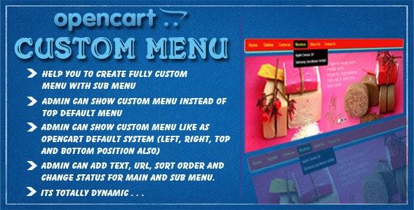 opencart custom menu - CodeCanyon Item for Sale