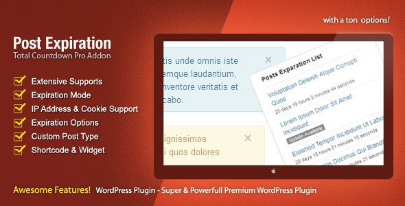Post Expiration - The Countdown Pro Addon - CodeCanyon Item for Sale