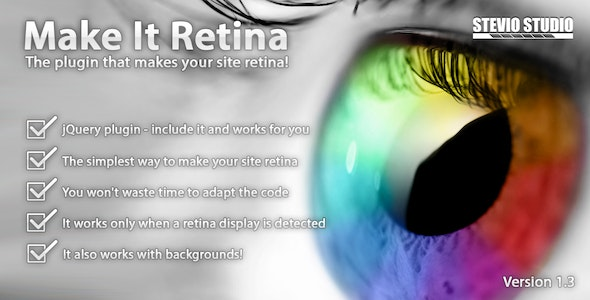 Make It Retina (jQuery plugin for retina display) - CodeCanyon Item for Sale