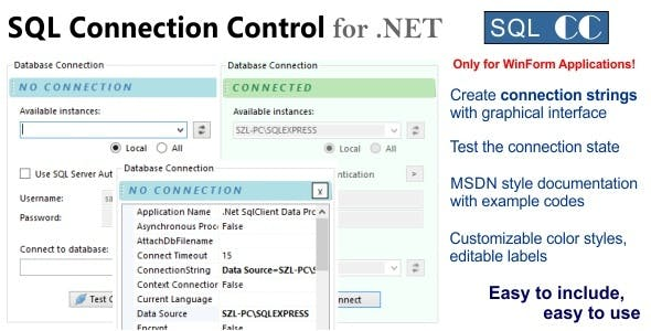 SQL Connection Control for .NET