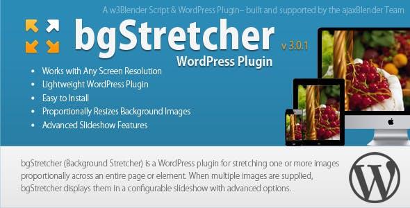 bgStretcher WordPress Bg Image Resizer & Slideshow
