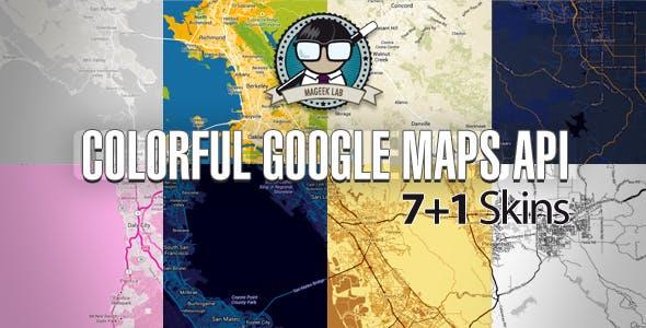Colorful Google Maps API