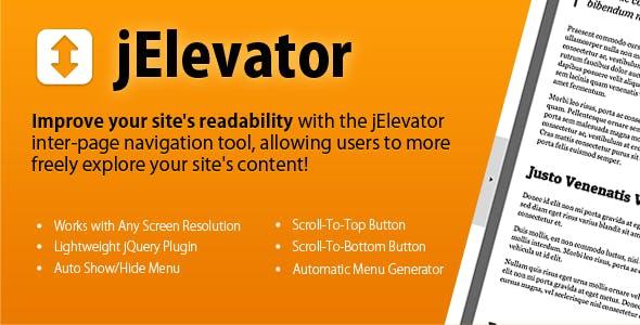 jElevator jQuery Inter-Page Navigation Tool