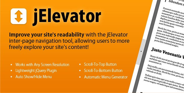 jElevator jQuery Inter-Page Navigation Tool - CodeCanyon Item for Sale